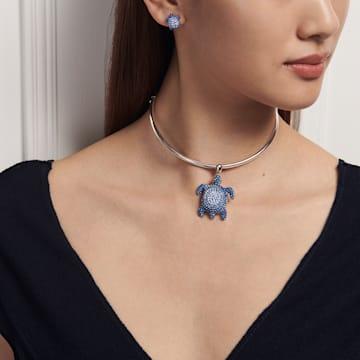 Orecchini Mustique Sea Life Turtle, blu, placcato palladio - Swarovski, 5533748