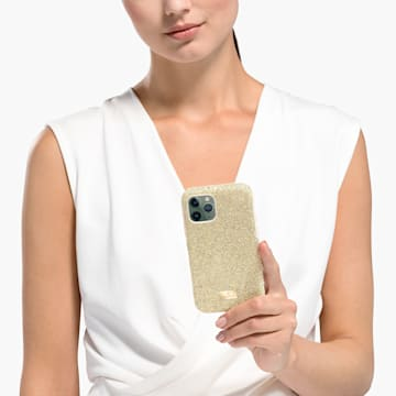 Coque rigide pour smartphone avec cadre amortisseur High, iPhone® 11 Pro, ton doré - Swarovski, 5533961