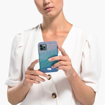 Crystalgram okostelefontok ütésálló kerettel, iPhone® 11 Pro Max, kék - Swarovski, 5533965