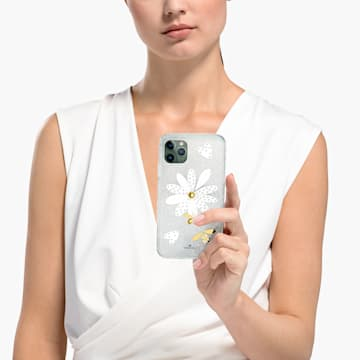 Eternal Flower Smartphone Case with Bumper, iPhone® 11 Pro Max, Light multi-coloured - Swarovski, 5533980