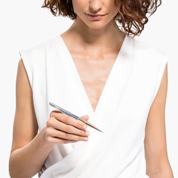 Výroční kuličkové pero Crystalline Nova, modré, pozlacené růžovým zlatem - Swarovski, 5534317