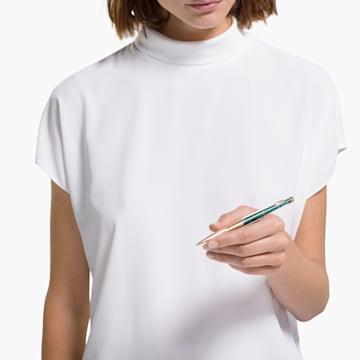 Kuličkové pero Crystalline Nova, zelené, pozlacené růžovým zlatem - Swarovski, 5534326