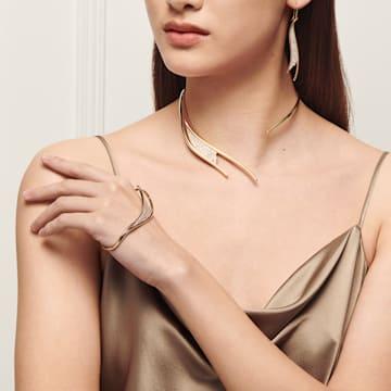 Gilded Treasures Pierced Earrings, White, Gold-tone plated - Swarovski, 5534426