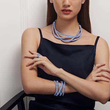 Prsten Tigris, modrý, pokovený rutheniem - Swarovski, 5534533