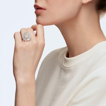 Eternal Flower gyűrű, sárga, vegyes fémbevonattal - Swarovski, 5534936