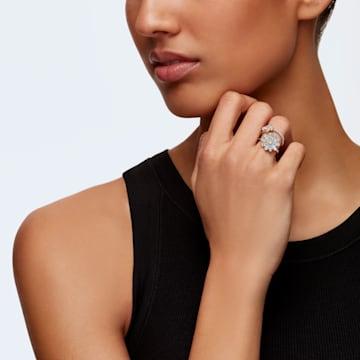 Conjunto de anillos Eternal Flower, amarillo, combinación de acabados metálicos - Swarovski, 5534937