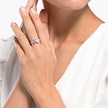 Attract Soul Ring, rosa, rhodiniert - Swarovski, 5535260