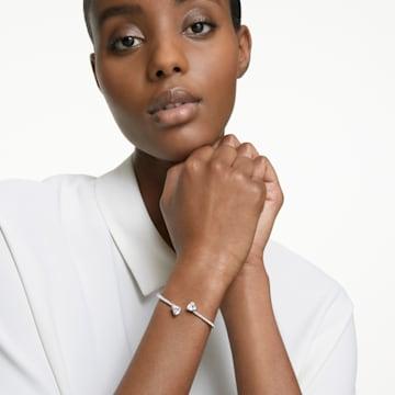 Bracelet-jonc Attract Soul Heart, blanc, métal rhodié - Swarovski, 5535289