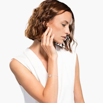 Strand Swarovski Remix Collection Flower, blanco, baño de rodio - Swarovski, 5535299