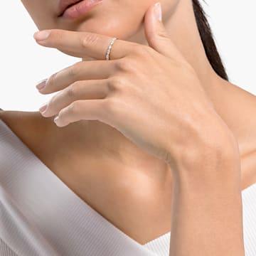 Prsten Vittore s kameny ve tvaru zašpičatělého oválu, bílý, pozlacený - Swarovski, 5535326