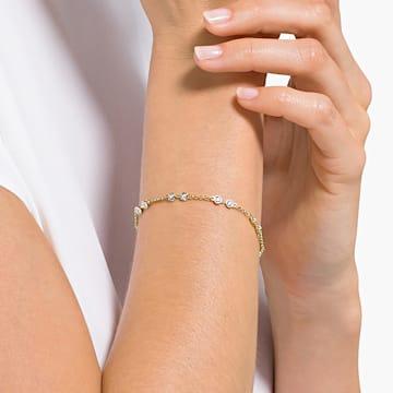 Carrier Swarovski Remix Collection, blanco, baño tono oro - Swarovski, 5535353