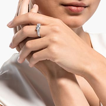 Lifelong Heart Ring, White, Rhodium plated - Swarovski, 5535399