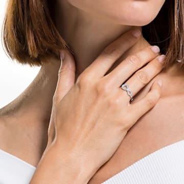 Swarovski Infinity 戒指, 白色, 镀铑 - Swarovski, 5535410