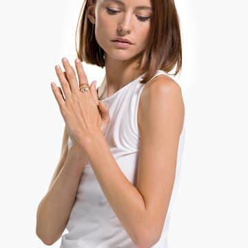 Zestaw pierścionków Shell, czerwony, powłoka w odcieniu złota - Swarovski, 5535558