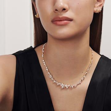 Collar Botanical, blanco, baño tono oro - Swarovski, 5535775