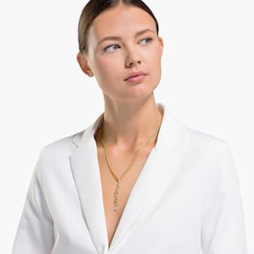 Collana a Y Botanical, bianco, placcato color oro - Swarovski, 5535779