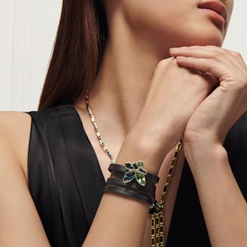 Beautiful Earth by Susan Rockefeller bracelet, Bamboo, Multicolored, Gold-tone plated - Swarovski, 5535888