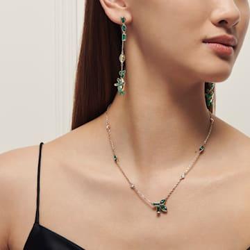 Collar Beautiful Earth by Susan Rockefeller, verde, baño tono oro - Swarovski, 5535891
