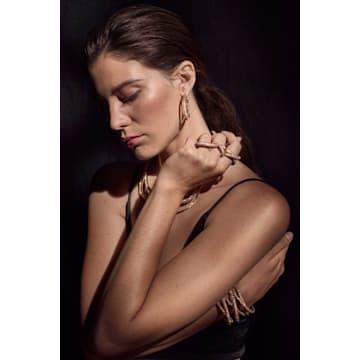 Tigris necklace, Pink, Gold-tone plated - Swarovski, 5535900