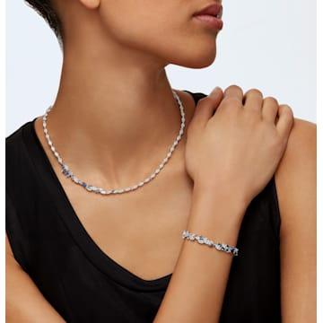 Louison 手链, 蓝色, 镀铑 - Swarovski, 5536548