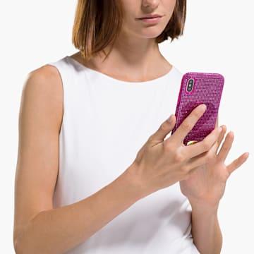 Coque rigide pour smartphone avec cadre amortisseur Crystalgram Heart, iPhone® X/XS, rose - Swarovski, 5536634