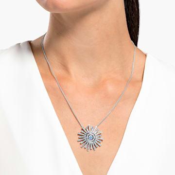 Collier Sunshine, bleu, métal rhodié - Swarovski, 5536731