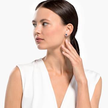 Angelic 耳釘, 藍色, 鍍白金色 - Swarovski, 5536770