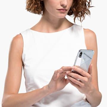 Coque rigide pour smartphone avec cadre amortisseur Subtle, iPhone® XS Max, ton argenté - Swarovski, 5536848