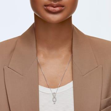 Swarovski Infinity 项链, 白色, 镀铑 - Swarovski, 5537966