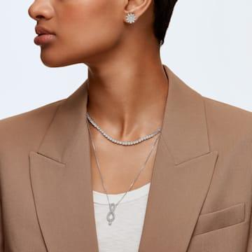 Collar Swarovski Infinity, blanco, baño de rodio - Swarovski, 5537966