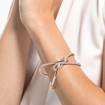 Swarovski Infinity-brede armband, Wit, Gemengde metalen afwerking - Swarovski, 5538227