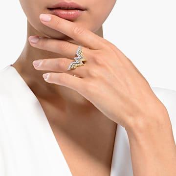 Fit Wonder Woman Double Ring, Gold tone, Mixed metal finish - Swarovski, 5538421