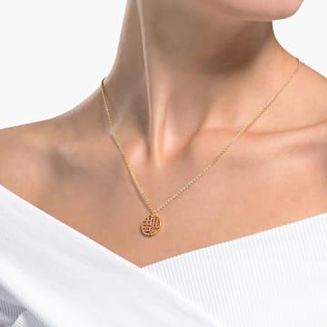Full Blessing Fu 项链, 红色, 镀金色调 - Swarovski, 5539894