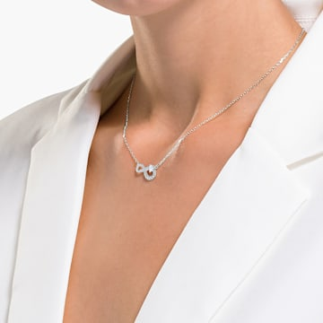 Parure Swarovski Infinity, blanc, métal rhodié - Swarovski, 5540702