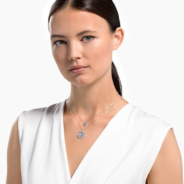 Swarovski Symbolic Mandala 项链, 白色, 镀铑 - Swarovski, 5541987