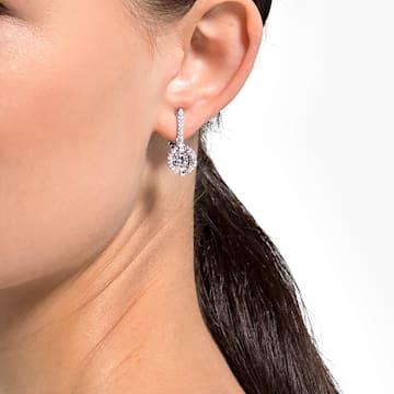 Swarovski Sparkling Dance clip earrings, White, Rhodium plated - Swarovski, 5543697