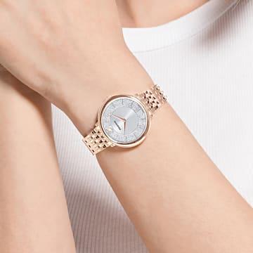 Relógio Crystalline Chic, pulseira em metal, rosa dourado, PVD rosa dourado - Swarovski, 5544590