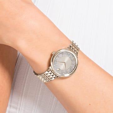 Montre Crystalline Chic, bracelet en métal, gris, PVD doré champagne - Swarovski, 5547611