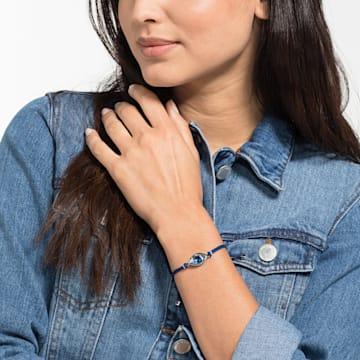 Bracelet Swarovski Power Collection Evil Eye, Œil porte-bonheur, medium, Bleu, Acier inoxydable - Swarovski, 5551804