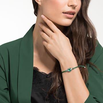 Bracelet Swarovski Power Collection Evil Eye, Œil porte-bonheur, medium, Vert, Acier inoxydable - Swarovski, 5551805
