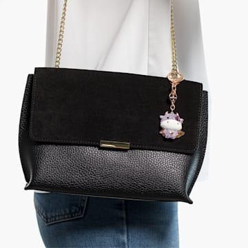 Zodiac Cow 手袋墜飾, 紫色, 鍍玫瑰金色調 - Swarovski, 5552795