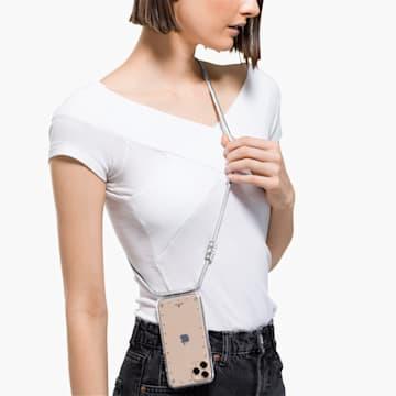 Funda para smartphone con collar y protector Swarovski, iPhone® 11 Pro, blanco - Swarovski, 5557777