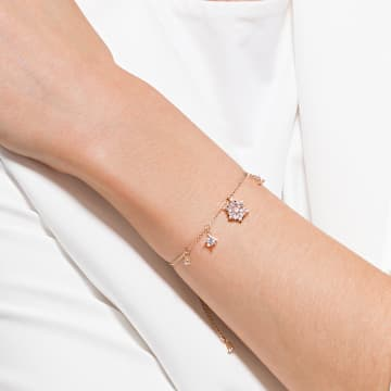 Magic Armband, Schneeflocke, Weiss, Roségold-Legierung - Swarovski, 5558186