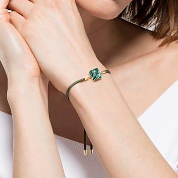 Swarovski Power-collectie armband met het element aarde, Groen, Goudkleurige toplaag - Swarovski, 5558350