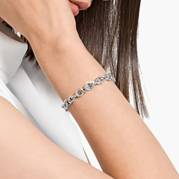 The Elements bracelet, White, Rhodium plated - Swarovski, 5560662