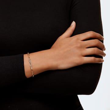 The Elements Chain Armband, weiss, vergoldet - Swarovski, 5560666