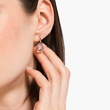 Tahlia Mini Серьги-обручи, Розовый Кристалл, Покрытие оттенка розового золота - Swarovski, 5560932