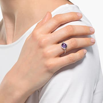 Bague Tahlia, violet, métal rhodié - Swarovski, 5560946