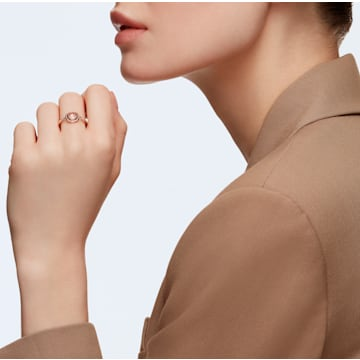 Tahlia-ring, Roze, Roségoudkleurige toplaag - Swarovski, 5560948