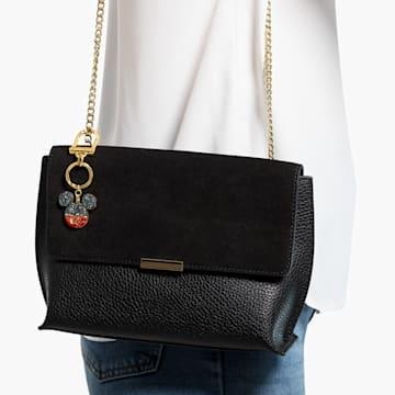 Accesoriu tip talisman pentru geantă Mickey, negru, placat în nuanță aurie - Swarovski, 5560954